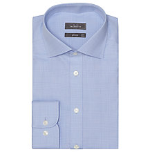 Buy John Lewis Graphic Check Tailored Shirt, Blue Online at johnlewis.com
