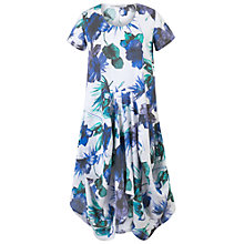 Buy Chesca Floral Print Linen Dress, White Blue Online at johnlewis.com