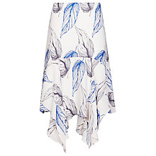 Buy Reiss Loretta Layered Skirt, Blue/White Online at johnlewis.com