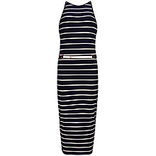 Buy Ted Baker Stripe Midi Dress, Navy Online at johnlewis.com