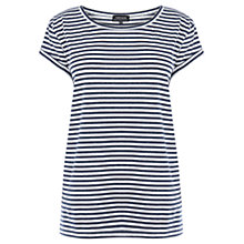Buy Warehouse Mini Stripe Top, Navy Online at johnlewis.com