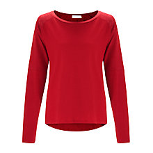 Buy Collection WEEKEND by John Lewis Drop Shoulder Mixed Slub Top Online at johnlewis.com