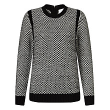 Buy Collection WEEKEND by John Lewis Birdseye Stitch Jumper, Black/Ivory Online at johnlewis.com