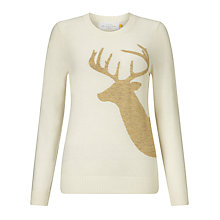 Buy Collection WEEKEND by John Lewis Reindeer Jumper, Cream/Gold Online at johnlewis.com