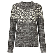 Buy Collection WEEKEND by John Lewis Fairisle Jumper, Grey/Ivory Online at johnlewis.com