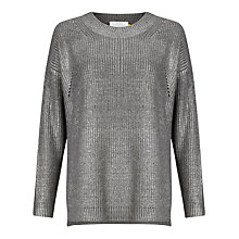 Buy Collection WEEKEND by John Lewis Foil Jumper, Silver Online at johnlewis.com