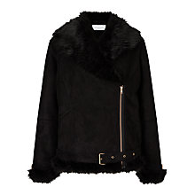 Buy Collection WEEKEND by John Lewis Faux Shearling Jacket, Black Online at johnlewis.com