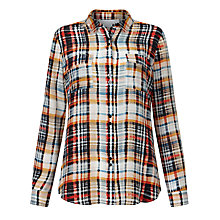 Buy Collection WEEKEND by John Lewis Silk Check Shirt, Multi Online at johnlewis.com