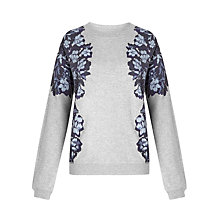 Buy Collection WEEKEND by John Lewis Floral Sweatshirt, Grey/Blue Online at johnlewis.com