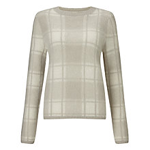 Buy John Lewis Blurred Check Jumper, Cream/Silver Online at johnlewis.com