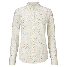 Buy Collection WEEKEND by John Lewis Star Print Shirt, Ivory/Gold Online at johnlewis.com