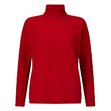 Buy John Lewis Cashmere Ribbed Roll Neck Jumper Online at johnlewis.com