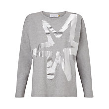 Buy Collection WEEKEND by John Lewis Star Print Jersey Top, Grey Online at johnlewis.com