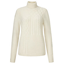 Buy Collection WEEKEND by John Lewis Multi Cable Jumper, Cream Online at johnlewis.com