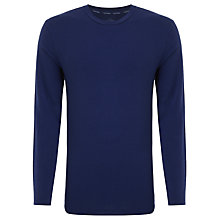 Buy Calvin Klein Long Sleeve Logo Crew Neck T-shirt, Blue Online at johnlewis.com