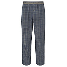 Buy Calvin Klein Woven Check Lounge Pants, Blue/Grey Online at johnlewis.com