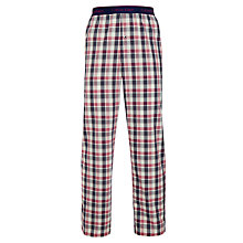 Buy Calvin Klein Mason Check Woven Cotton Lounge Pants, Red Online at johnlewis.com