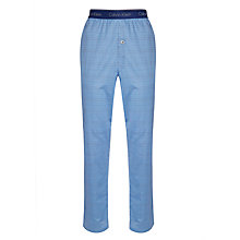 Buy Calvin Klein Craft Print Woven Lounge Pants, Blue Online at johnlewis.com