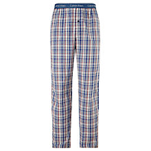 Buy Calvin Klein Eric Woven Eric Check Cotton Lounge Pants, Blue Online at johnlewis.com