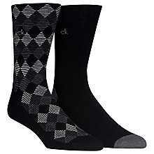 Buy Calvin Klein Check Socks, Pack of 2 Online at johnlewis.com
