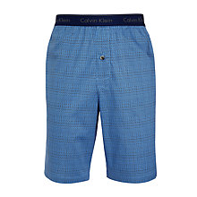 Buy Calvin Klein Craft Print Woven Lounge Shorts, Blue Online at johnlewis.com