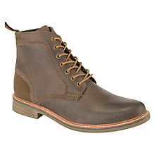 Buy Barbour Byker Leather Boots, Dark Brown Online at johnlewis.com