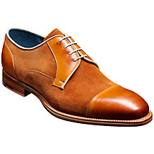 Buy Barker Butler Leather and Suede Derby Shoes, Cedar/Camel Online at johnlewis.com