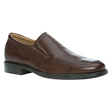 Buy Geox Federico Slip On Shoes, Dark Brown Online at johnlewis.com