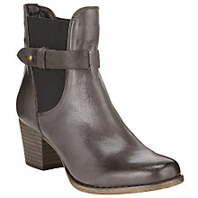 Buy John Lewis Helen Western Style Leather Boots, Grey Online at johnlewis.com
