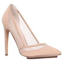 Buy KG by Kurt Geiger Harlow Suede Court Shoes, Nude Online at johnlewis.com