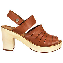 Buy Whistles Jasmine Leather Block Heeled Clogs Online at johnlewis.com