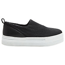 Buy Whistles Ruched Flatform Slip On Trainers, Black Leather Online at johnlewis.com