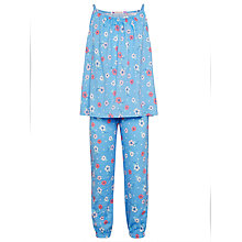 Buy John Lewis Floral Swing Shape Pyjamas, Blue Online at johnlewis.com