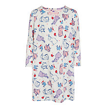 Buy John Lewis Girls' Long Sleeve Bunny Nightdress, Pink Online at johnlewis.com