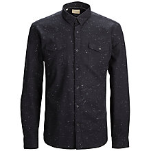 Buy Selected Homme Nate Fleck Shirt, Black Online at johnlewis.com