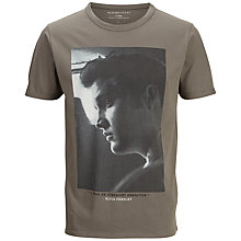 Buy Selected Homme Elvis Overnight Sensation Graphic Print T-Shirt, Gunmetal Online at johnlewis.com