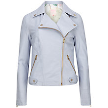 Buy Ted Baker Preeya Leather Biker Jacket Online at johnlewis.com