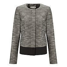 Buy John Lewis Monroe Tweed Jacket, Grey Online at johnlewis.com