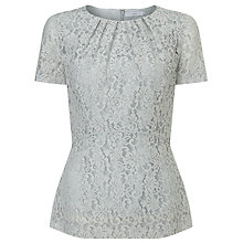 Buy John Lewis Courtney Lace Top, Grey Online at johnlewis.com