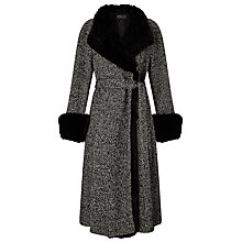 Buy Bruce by Bruce Oldfield Faux Fur Trim Coat, Grey Online at johnlewis.com