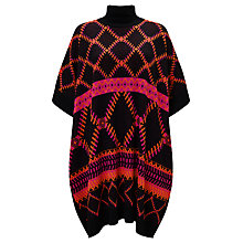 Buy Somerset by Alice Temperley Intarsia Cape, Pink/Black Online at johnlewis.com