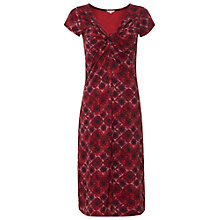 Buy White Stuff Coco Print Midi Dress, Claret Online at johnlewis.com