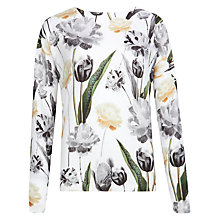 Buy Ted Baker Tulipp Paper Petal Print Cotton Jumper, Multi Online at johnlewis.com