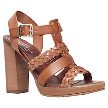Buy Carvela Krill Block Heeled Sandals, Tan Leather Online at johnlewis.com