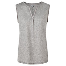 Buy Jigsaw Sleeveless Slub Cotton Top Online at johnlewis.com