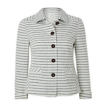 Buy White Stuff Hanokotaba Stripe Linen Cotton Jacket, White Online at johnlewis.com