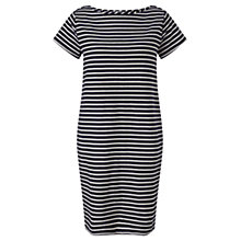 Buy Jigsaw Striped Boat Neck T-shirt Dress, Multi Online at johnlewis.com