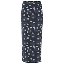 Buy White Stuff Lithograph Maxi Skirt, Easel Grey/Navy Online at johnlewis.com