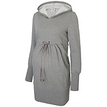 Buy Mamalicious Karla Long Sleeve Hooded Maternity Sweatshirt, Medium Grey Online at johnlewis.com