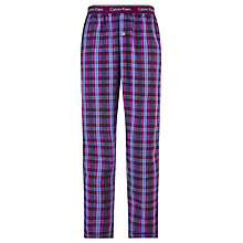 Buy Calvin Klein Checked Pyjama Pants, Purple Online at johnlewis.com